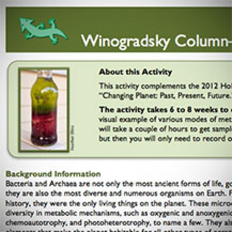 Winogradsky Columns: Microbial Ecology in the Classroom