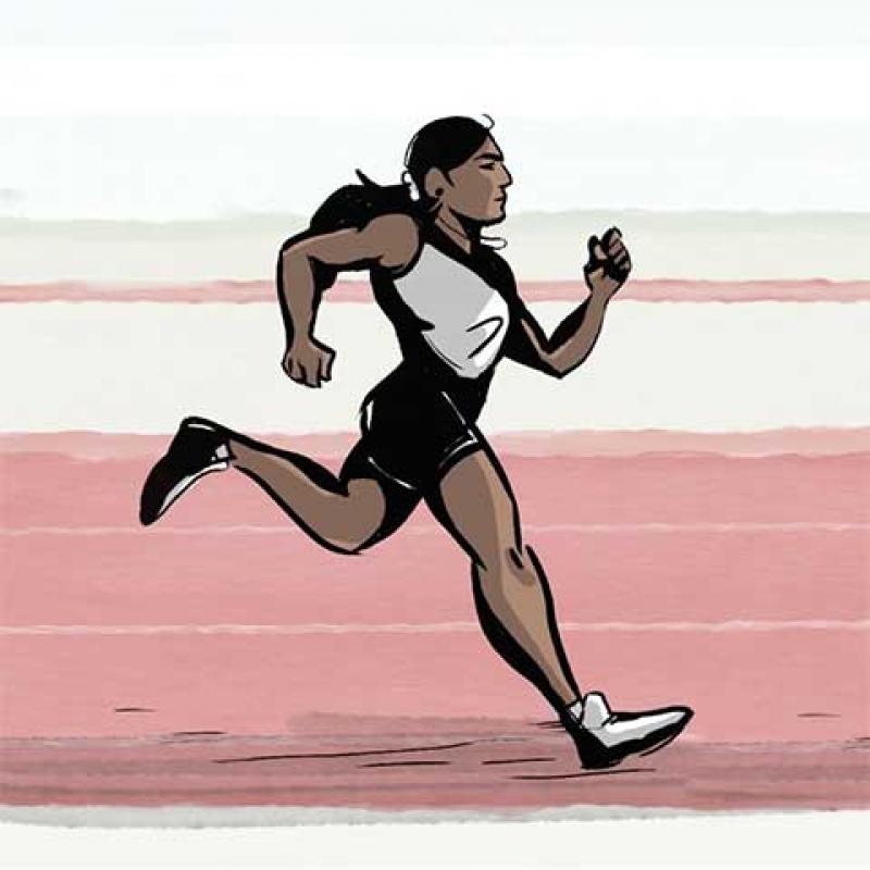 Dutee Chand running